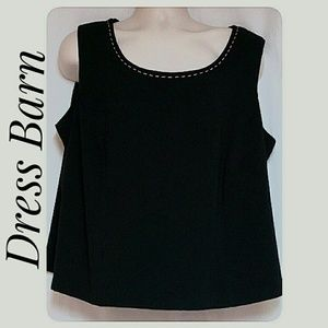 Dress Barn Tops - Plus-Size Shell Camisole Black Size 22W Like New